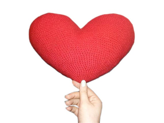 Amigurumi Heart Pillow : Large Heart Crochet Pattern Crochet Heart Pattern Amigurumi