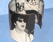 Beatles Bracelet - Upcycled Vintage Post Magazine 1960s Jewelry - Upcycled Jewelry - Repurposed Magazine Book Cuff