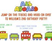 Choo Choo Train Party Invitation