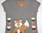 Red Fox fitted tee NWT- Large, Grey (Ready to ship)