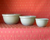 Mixing Bowls, Set of 3 Monmouth Western Pottery