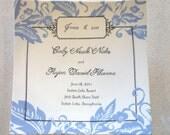 Custom Painted Wedding Invitation Platter