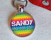 Rainbow Zig-Zags Custom ID Tag