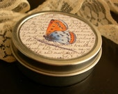 Vintage Handwritten Butterfly Tin