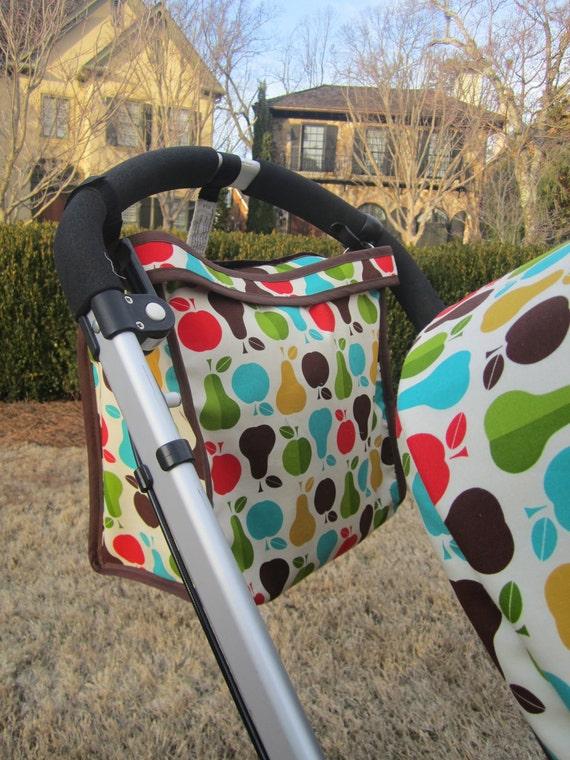 Custom Bugaboo Stroller Hanging Diaper Bag - you choose color combo