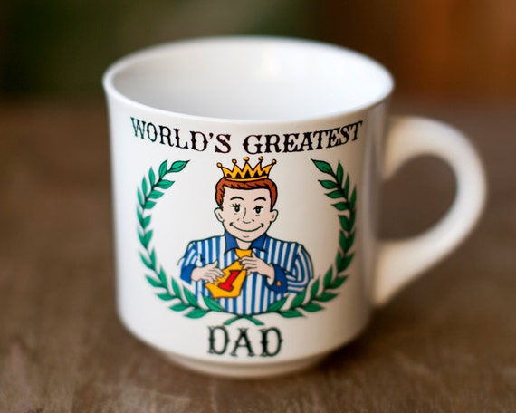Vintage Mug - World's Greatest DAD - Father's Day