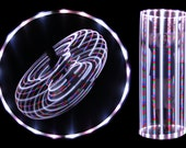 """38"""" 21 LED Lighted Hula Hoop - Rainbow White - Rechargeable"""