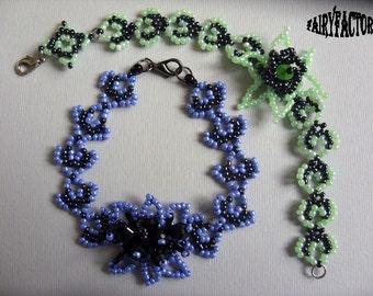 Absinte - Cuff/Bracelet PDF Pattern, seed beads handmade