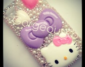 Deco Den Purple Bow iPhone 4s Case