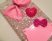 Pink Bow Deco HK iPhone 4s Case