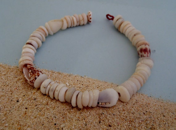 Authentic Cone and Puka Shell Bracelet - Hawaiian Jewelry - 6.5 inches