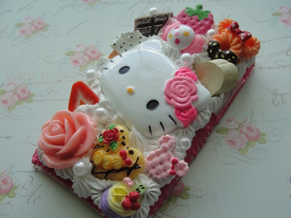 Cute Hello Kitty Deco Ipod touch 4g Case