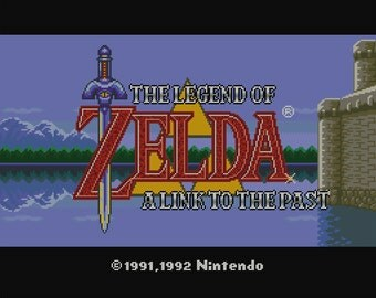 The Legend of Zelda: Link to the Past Title Screen pattern