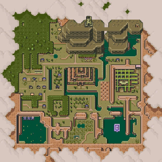 Zelda A Link To The Past Dark World Map Quiz By Dlspartan93