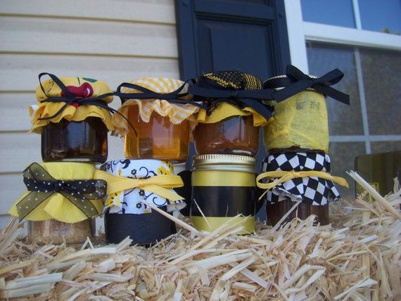 50 Mini Mason Jar Favors with labels   Custom Order for (johnsonvalarie)