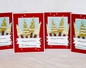 Christmas Tree Cards (set of 4)