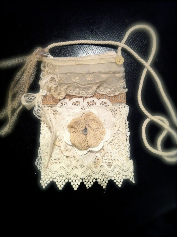 french market purse on a string