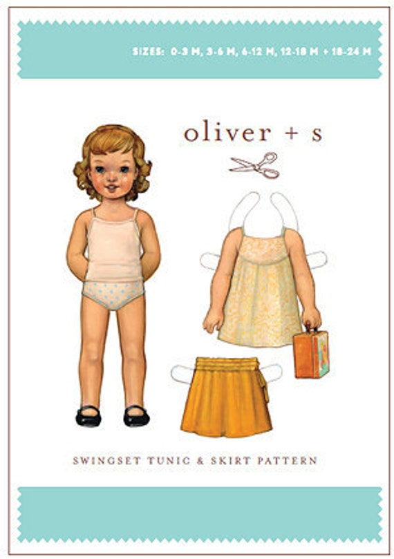 SALE--Oliver and S Swingset Tunic & Skirt Pattern (NB-24 Months)