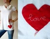 Valentine love babydoll dress - Valentine cowl neck babydoll dress - White S / M