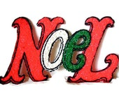 Retro Christmas 50s decor - Funky melted plastic - Noel retro Christmas decor