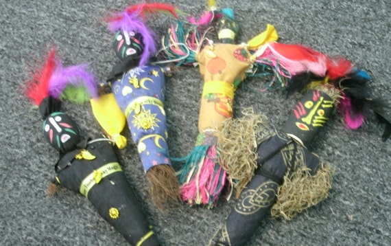 Vintage New Orleans Voodoo Dolls Lot of 4 Lucky Magic