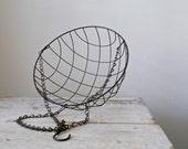 Vintage Wire Hanging Basket