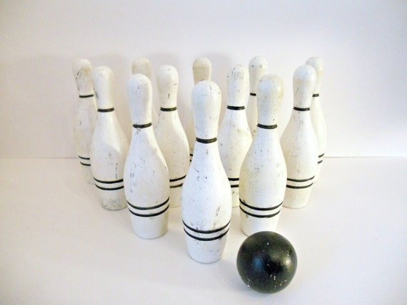 Vintage Toy Bowling Set