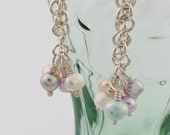 Reserved for Anacee: Silver and freshwater pearl dangles