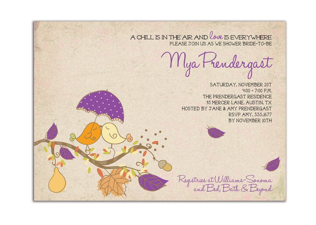 Fall Wedding Shower Invitations: Unavailable Listing On Etsy