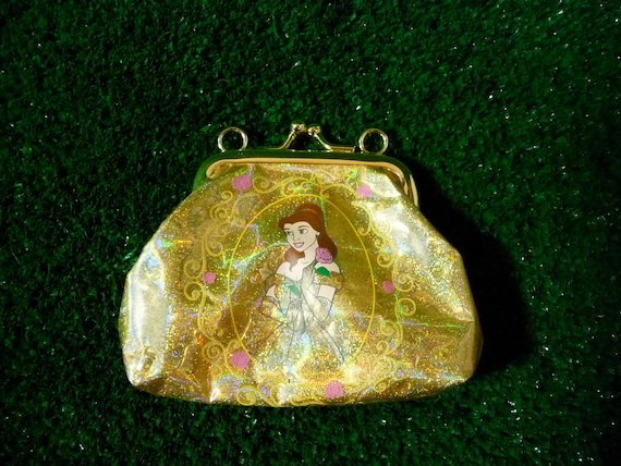 Beauty and the Beast Disney Princess Holographic Gold Coin Purse