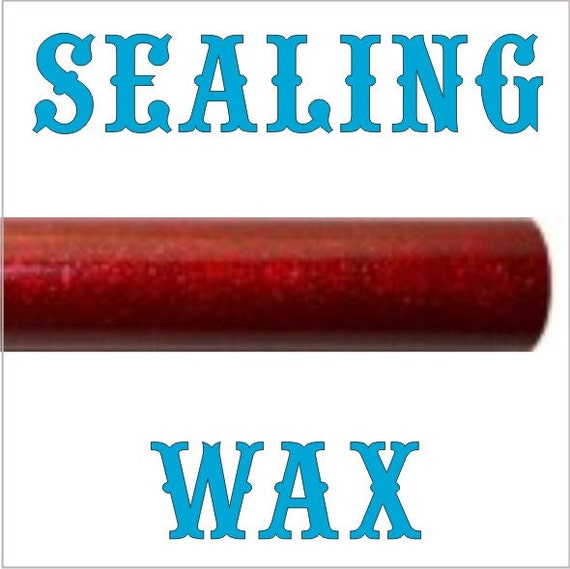 Sparkling Dark Red Scottish style sealing wax - works in a glue gun - exclusive product - 5 sticks