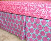 SALE*** 3 Sided Crib Skirt, You Choose the Fabric and Style