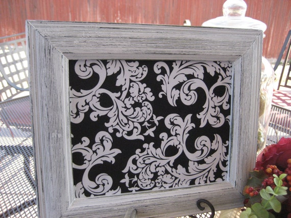 Shabby Chic Creamy White Picture Frame 8x10 Open Back/Magnetic Memo Board Option