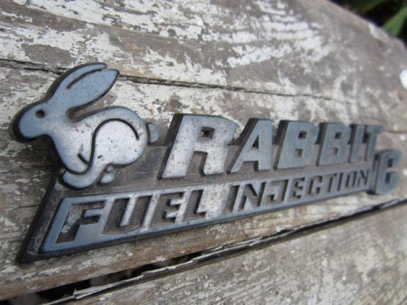 vintage car emblem volkswagen vw rabbit id badge plastic