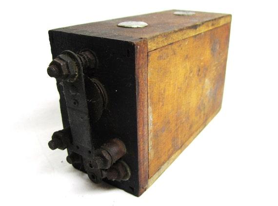 Antique Wood Block Auto Ignition Magneto Coil  Vintage Car