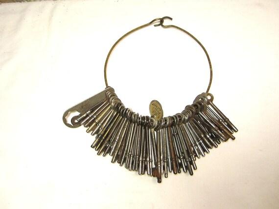 HUGE Instant Collection of 50 Skeleton Keys Antique Keys Victorian Keys Metal On Jailers Ring