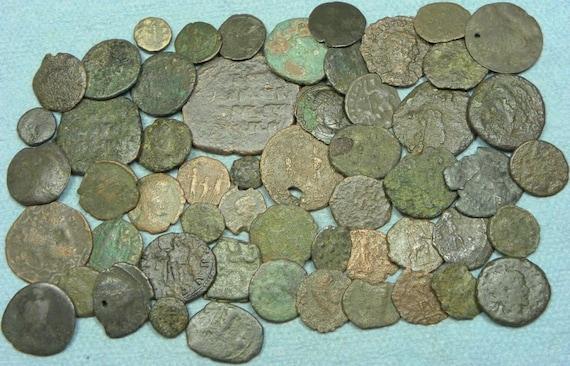 True Roman Bronze Coins 2000 Years Old Low Grade