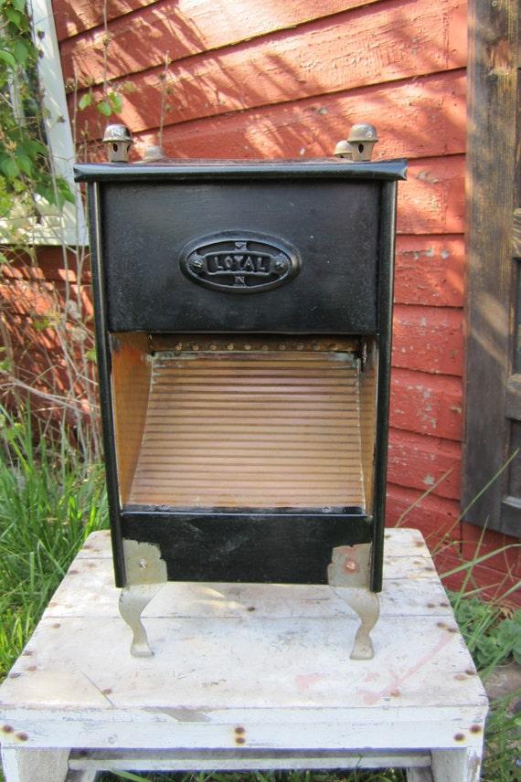 Antique Industrial Gas Heater Black and Copper Metal Industrial Decor Item Unique