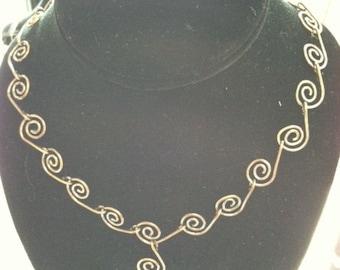 Copper Swirl Necklace