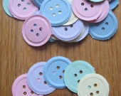 100 x Pastel Embossed Button Punchies/Die Cuts/Embellishments