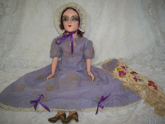 SOLD  Vintage Boudoir Doll.  Marked Sterling. Art Deco and Stunning ON SALE