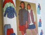 Sewing Pattern Shirt Vest Skirt Pants & Shorts Simplicity 7361 Sizes 7, 8, 10 UNCUT