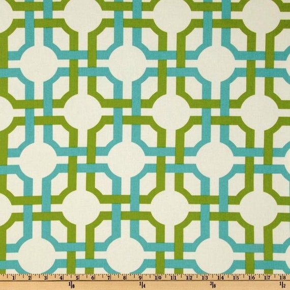 Custom Valances, Drapery Panels, & Table Runners - Groovy Grille Confetti Fabric by Waverly