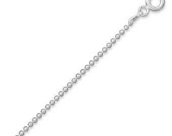 1.5mm Sterling Silver 20 INCH BEAD Chain for Pendants