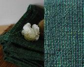 Set of 2 Linen Bath Towels/Sheets Green