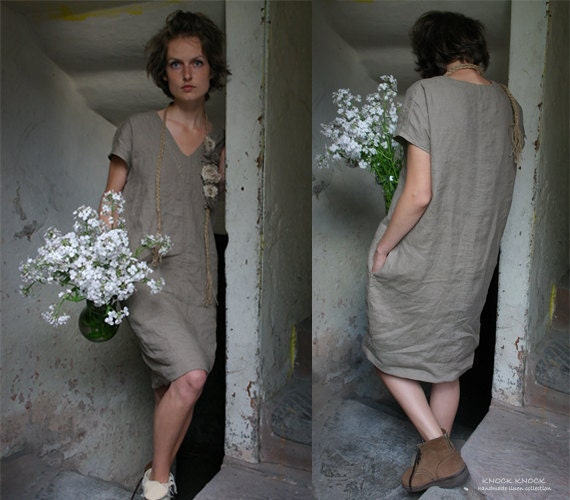 RESERVED FOR JOYCE Linen Tunic Dress