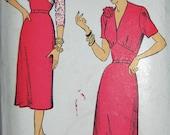 "Vintage 1940s New York Pattern Co. Women's Misses' Dress Pattern 1128 Size 18 (36"" Bust)"