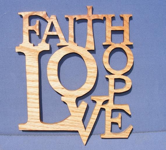 Faith hope love home decor by roundtopcrafts on etsy for Faith decor