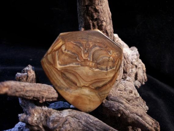 Stone Guitar Pick Royal Sahara Jasper Handmade