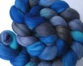 Bluesy Hand Dyed Merino Top (4.1 oz) Free U.S. Shipping